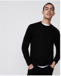 Express - Big & Tall Textured Reversible Sweater - Lyst