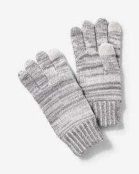 Express - Plaited Tech Touchscreen Compatible Gloves - Lyst
