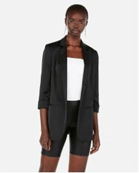 Express - High Waisted Faux Leather Biker Shorts - Lyst