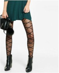 Express - Large Diamond Full Tights - Lyst