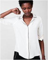 Express - Piped Pyjama Collar Shirt - Lyst