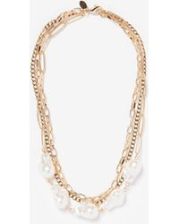 Express - Three Row Chain Necklace - Lyst