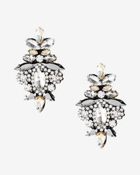 Express | Ornate Stone Earrings | Lyst
