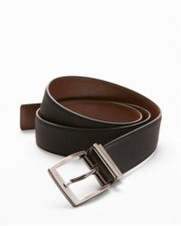 Express | Reversible Matte Strap Prong Buckle Belt | Lyst