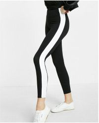 Express - One Eleven High Waisted Wide Band Athletic Stripe Legging - Lyst
