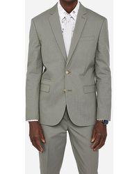 Express Slim Olive Green Cotton Blend Stretch Suit Jacket Green