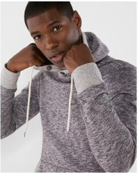 Express - Marled Crossover Hoodie - Lyst