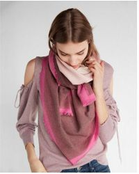 Express - Ombré Square Oblong Scarf - Lyst