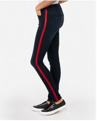 Express - Mid Rise Side Stripe Stretch+ Leggings - Lyst