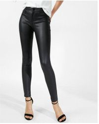 Express - Five Pocket Faux Leather Leggings - Lyst