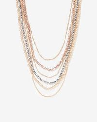 Express - Multi-row Faceted Necklace - Lyst