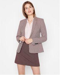 Express - High Waisted Textured Clean A-line Mini Skirt - Lyst
