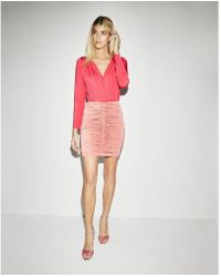 Express - High Waisted Ruched Pencil Skirt - Lyst