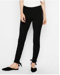 Express - Mid Rise Lace-up Stretch Ankle Leggings - Lyst