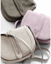 Express - Faux Suede Trapunto Stitch Cross Body Saddle Bag - Lyst