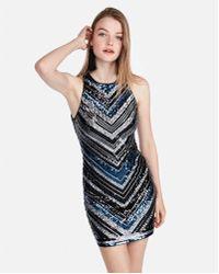 Express - Sequin Mini Dress - Lyst