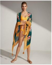 Express - Tropical Floral Open Cover-up - Lyst