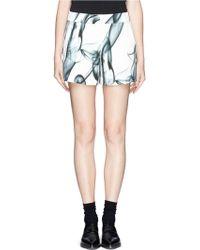 Maje Gambette Print Bloomer Shorts - Lyst