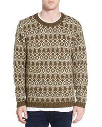 Wesc - 'helmut' Jacquard Wool Blend Crewneck Sweater - Lyst