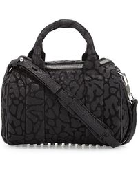 Alexander Wang Rocco Laser-Cut Pebbled Leather Satchel Bag - Lyst