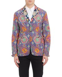 Engineered Garments Multicolor Psychedelic Print Tux Jacket - Lyst