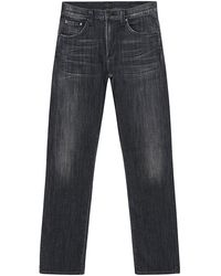 Citizens Of Humanity Core Slim Straight Black Wash Jeans - Lyst