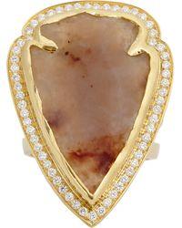 Pamela Love Jasper Diamond Gold Arrowhead Ring - Lyst