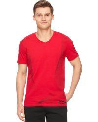Calvin Klein Performance Gradient Pattern T-Shirt red - Lyst
