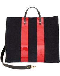 Clare V. - Navy And Red Stripe Simple Tote - Lyst