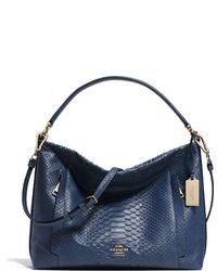 Coach Scout Python-Embossed Hobo Bag - Lyst