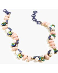 J.Crew Crystal Collage Necklace pink - Lyst