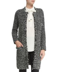 Magaschoni - Open-front Tweed Knit Coat - Lyst