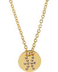Gorjana Astrology Shimmer Disc Necklace - Lyst