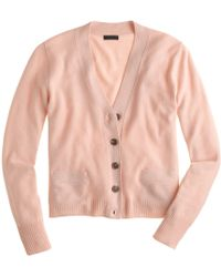 J.Crew Collection Cashmere V-Neck Cardigan Sweater - Lyst