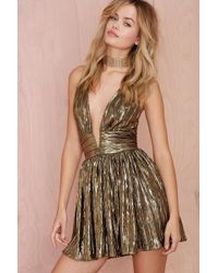 Nasty Gal Gilt Trip Metallic Dress - Lyst