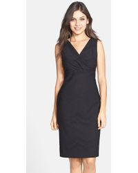 Marc New York By Andrew Marc Chevron Texture Sheath Dress - Lyst