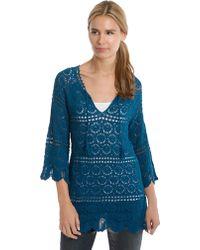 Lucky Brand Crochet Knit Tunic - Lyst