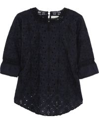 Vanessa Bruno Athé Broderie Anglaise Cotton Top - Lyst