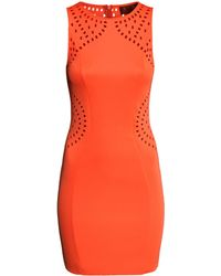 H&M Dress With A Hole Pattern - Lyst