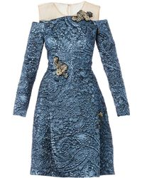 Erdem Leola Embellished Lurex-jacquard Dress - Lyst