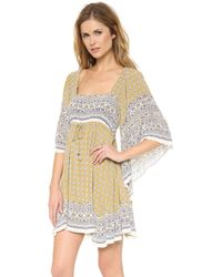 Free People Heart Of Gold Mini Dress  Mustard Combo - Lyst