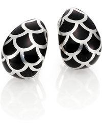 John Hardy | Naga Enamel & Sterling Silver Buddha Belly Earrings | Lyst
