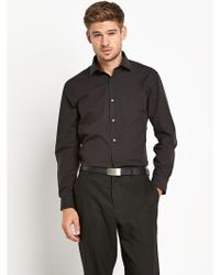Calvin Klein Textured Slim Fit Long Sleeve Shirt - Lyst
