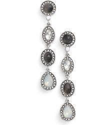 Kent & King - Linear Drop Earrings - Lyst