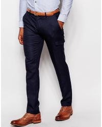 Vito - Herringbone Suit Trousers In Slim Fit - Lyst