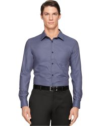 Calvin Klein Two-Tone Dobby Texture Shirt - Lyst