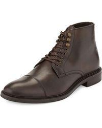 Gordon Rush Captoe Leather Laceup - Lyst