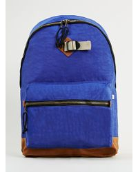 Topman Blue Washed Backpack - Lyst