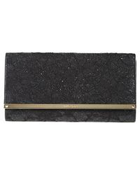 Jimmy Choo 'Large Maia' Lace Clutch - Lyst