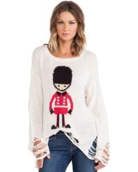 Wildfox Lenon Soldier Boy Pullover - Lyst